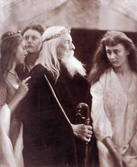 King Lear allotting his Kingdom to his three daughters, 1872, by Julia Margaret Cameron