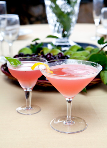 Watermelon juice and gin-based cocktails
