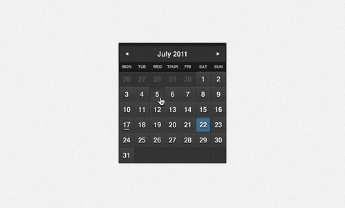 Classy Dark Formal Calendar PSD by Zack D. Smith