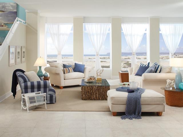 West Coast Beach Living Room Main Walls Country Beige