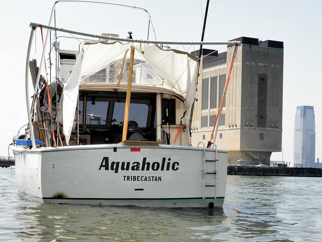 Aquaholic fishing boat on the hudson river tribeca new for Fishing in new york city