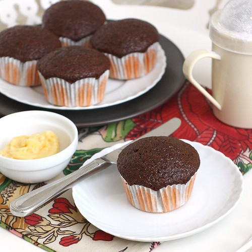 Hot Peppered Gingerbread Muffins with Orange Maple Butter