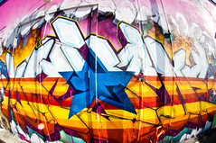 Bright Blue Star   Houston Graffiti   Machine