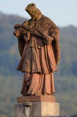 Statue of Nepomuk in Dornach, Switzerland