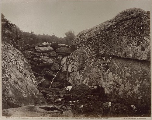 Alexander_Gardner,_Home_of_a_Rebel_Sharpshooter,_Gettysburg,_1863,_(Plate_41_of_