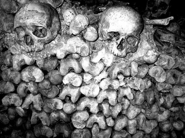 Sculls and Bones, Catacombes of Paris - Flickr CC Oh-Paris