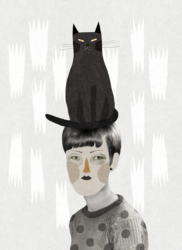 Un gat en el cap
