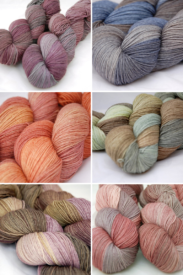hand dyed yarns from Juno Fibre Arts