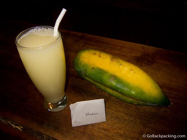 Fresh Babaco juice