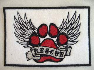 Rescue patch red/black
