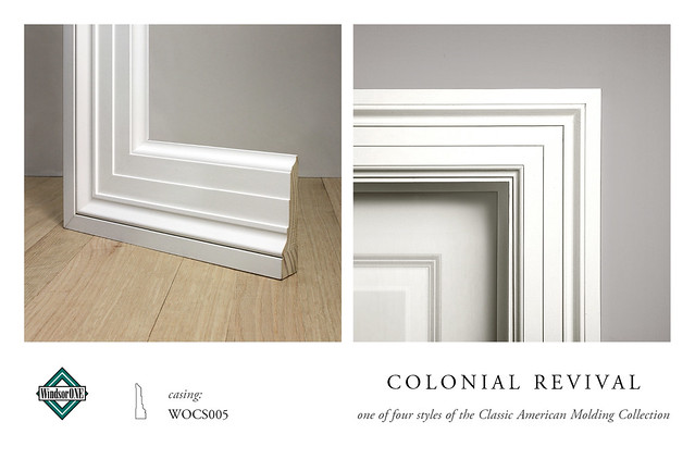 Colonial revival casing molding flickr photo sharing for Colonial style trim