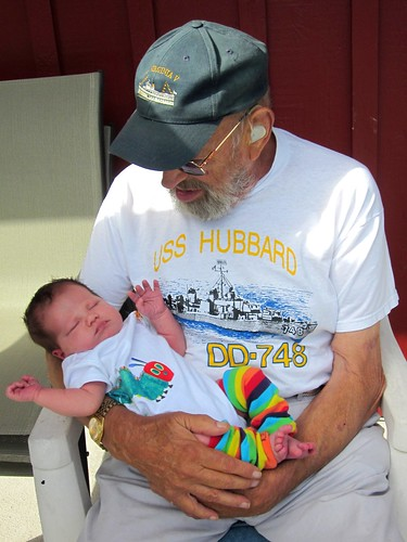 Tycho meeting one of his Great-Grandpa Jacks