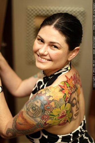 new tattoo   buddha on rachel's back