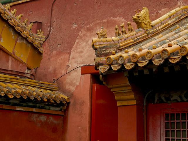 Dragon and demon roof guardians Forbidden City - Cité interdite ...