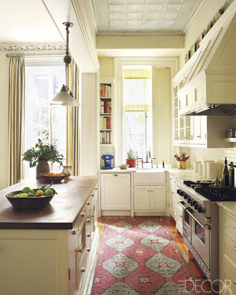 Elle Decor White Kitchen Persian Rug