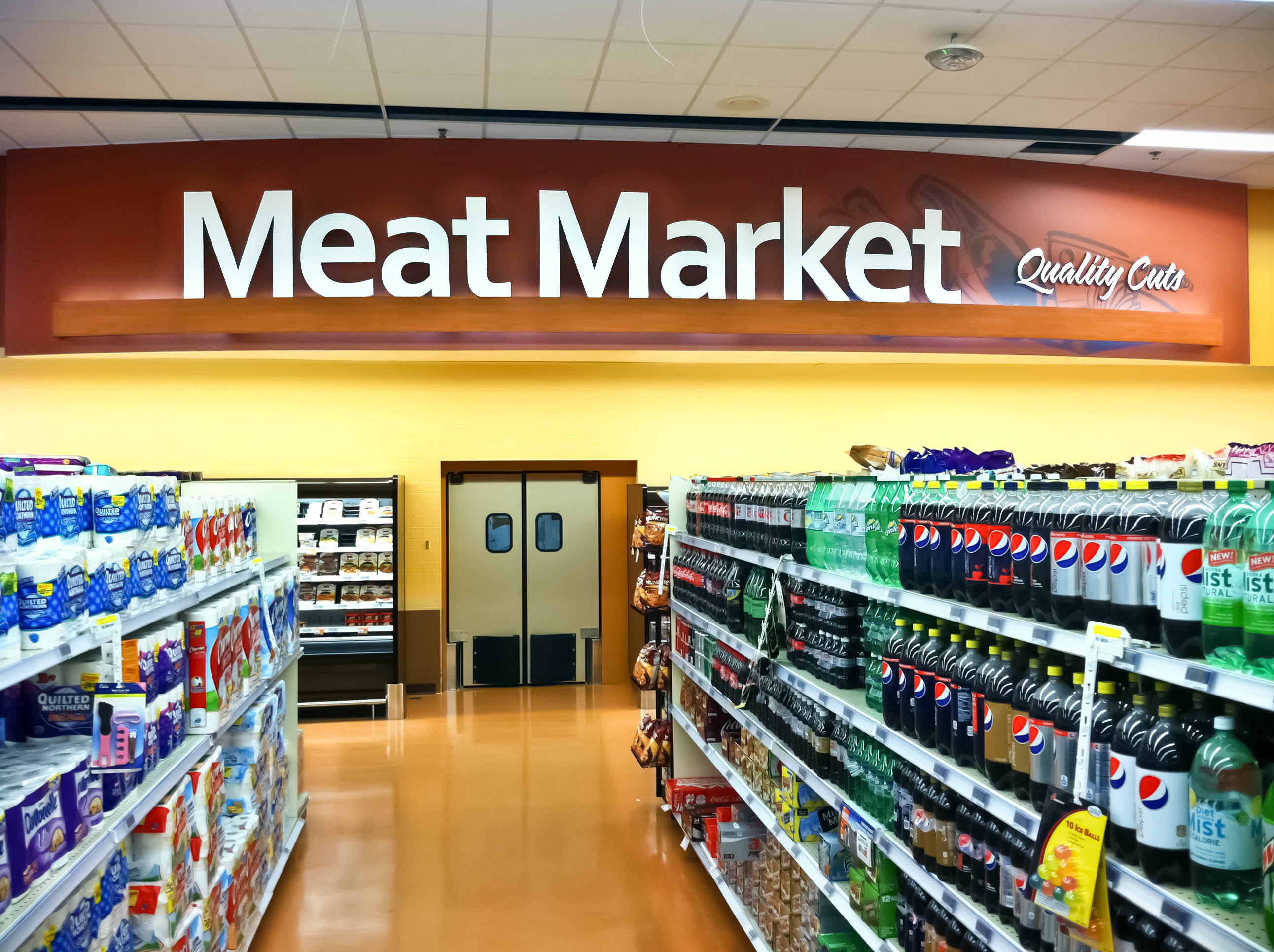 Interior Grocery Store Market Decor Design Grocery