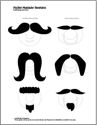 photograph relating to Free Mustache Printable identify Mustache pacifier template.png Absolutely free in direction of obtain, printable