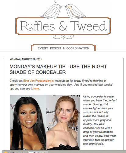 Ruffles  & Tweed : USE THE RIGHT SHADE OF CONCEALER