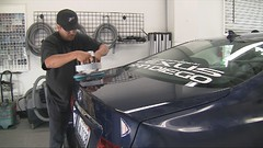 Using the Dual Head Cyclo Polisher during Car Detailing Training