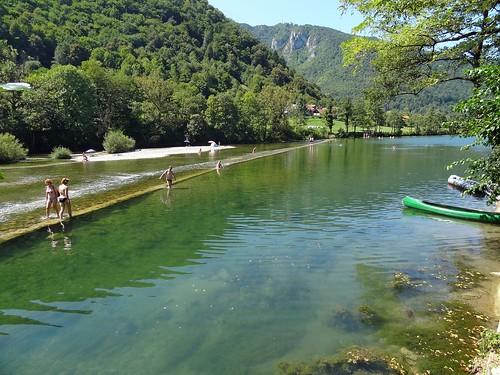 people water river landscape slovenia slovenija jez voda reka kolpa prelesje madronic madronič