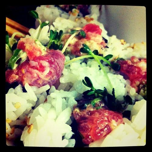 Hospital sushi from Ren's via @seanhower #grateful #mahalo #udabes