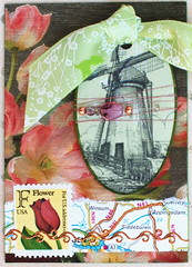 Dutch Windmill Series - ATC4 | TRADED to ATheeC  ATC created… | Flickr