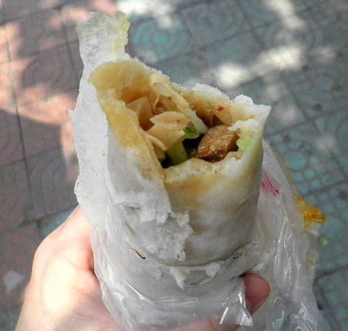 Chinese kebab roll