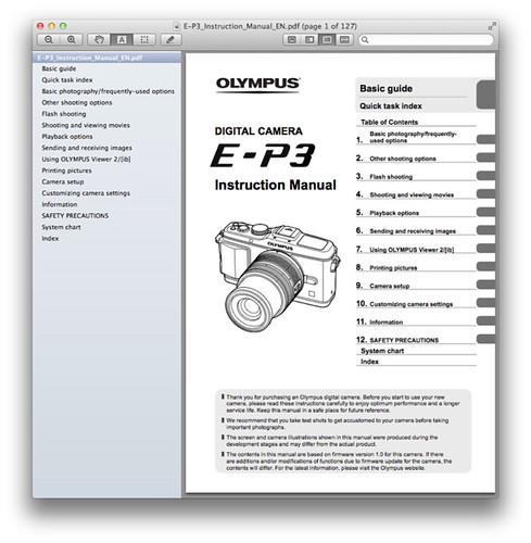 Olympus E-P3 Manual