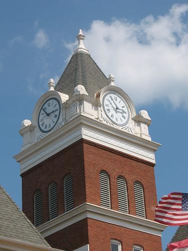Twiggs Co CH Clock Tower Jeffersonville GA