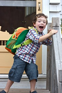Oscar, first day of kindergarten