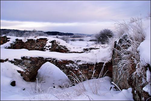winter snow vinter nikon ruin snö d60 kungälv ragnhildsholmen nikond60