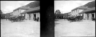 Cours de la gare, Foix, octobre 1902