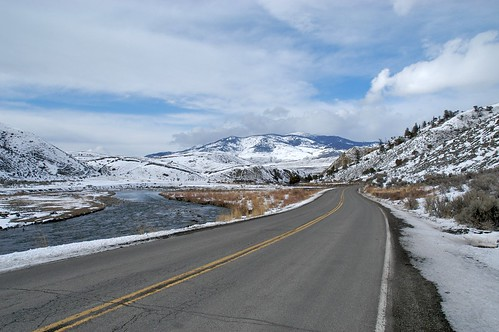 Road to Yellowstone in April