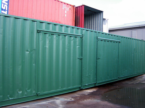 open door, 40' container