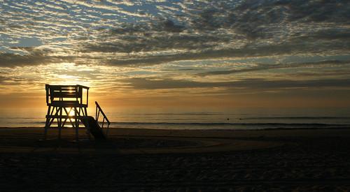 ocean summer sky color beach clouds sunrise dawn newjersey outdoor horizon nj lifeguard shore 2011 seagirt hhsc2000