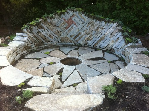 dry stone fire pit