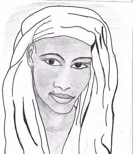 Mulher de turbante by Daniel Vinhas - Desenhos e Rabiscos