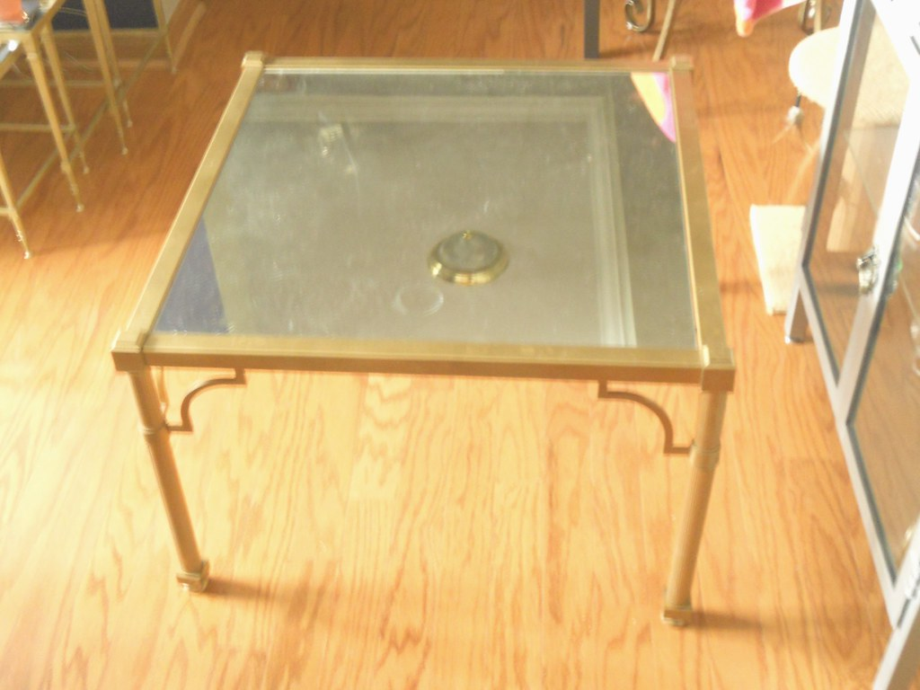 $75--Metal/Mirrored Coffee Table