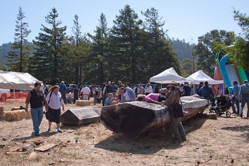 Yurok salmon festival, Klamath, CA