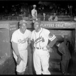 Sam Jethroe & Jackie Robinson at Braves Field
