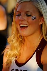 Blonde University of Montana Cheerleader