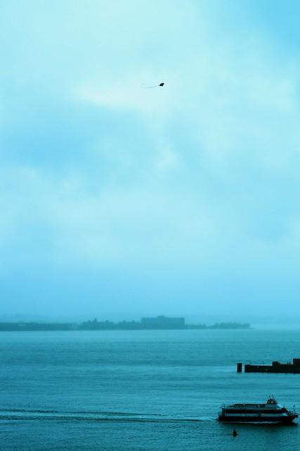 Kite Flying Over The Bay