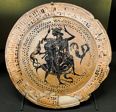 Peleus and Thetis, Boeotian black-figure dish, ca. 500-475 BC, by Jastrow