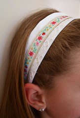 Ribbon and lace headband
