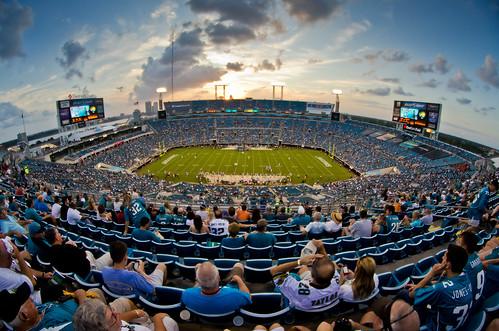 sunset football stadium nfl fisheye jacksonville jaguars everbank