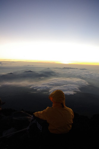 mountains japan clouds fuji summit