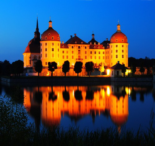 Moritzburg Castle tonight