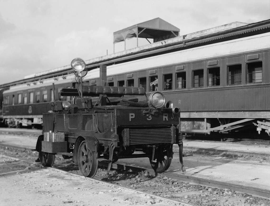 Railroad trolly on Palestine railroad - circa 1936