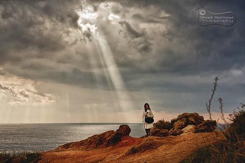 light sea sky lebanon water sign clouds canon landscape eos grain beirut shining hdr xsi rawche 450d sonofjordan