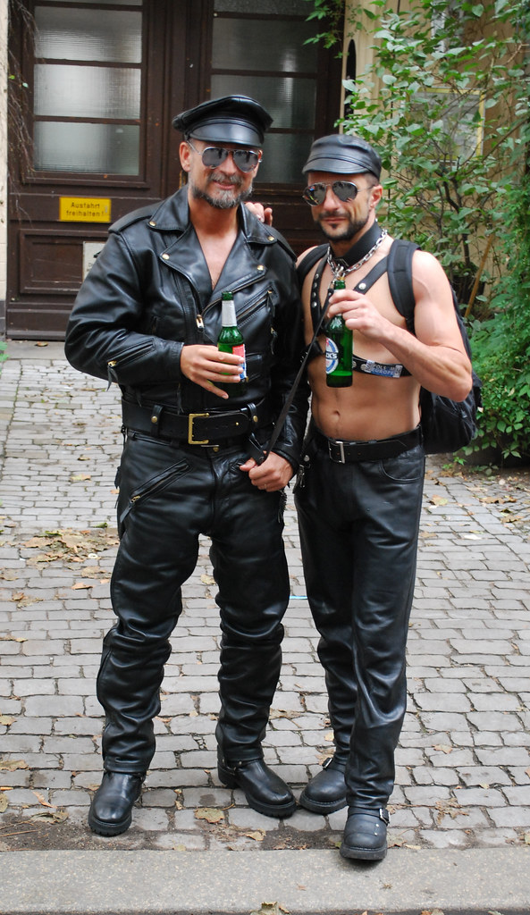 Hot gay leather men